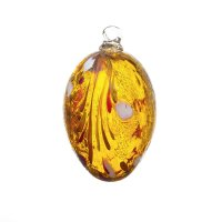 Handmade Easter egg (glass), gold topaz, 10cm