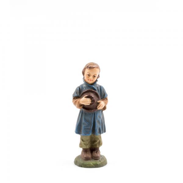 Hirtenknabe mit Hut, zu 10 - 11cm Krippenfiguren - Original MAROLIN® - Krippenfigur für Ihre Weihnachtskrippe - Made in Germany