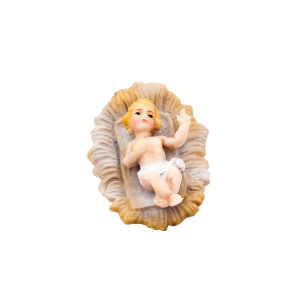 Baby Jesus in the manger, to 4.75 in. figures (plastic material)