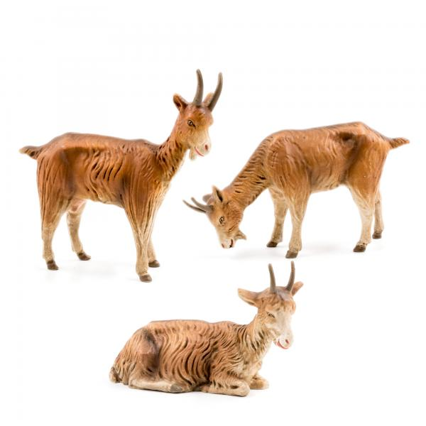 Group of 3 goats to 8.5 in. figures
