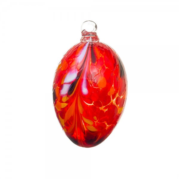 Handgefertigtes Glasei, rot