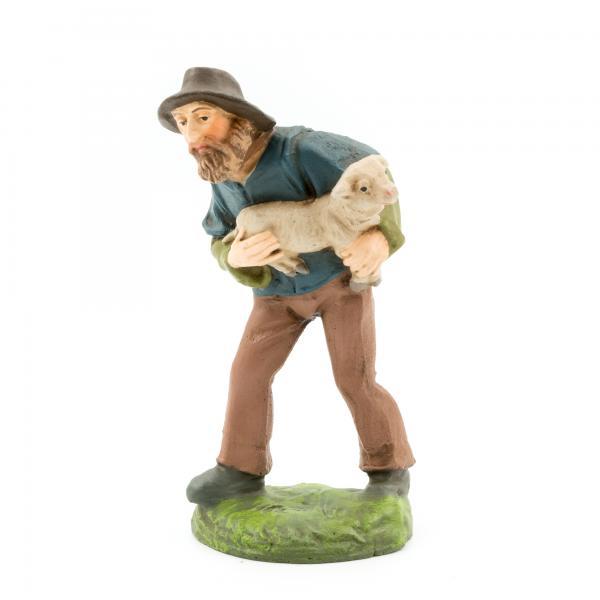 Hirte mit Schaf im Arm, zu 9cm Figuren