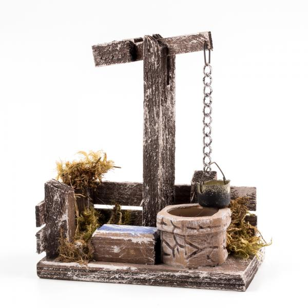 Brunnen mit Tränke für 9 - 10cm Figuren - Original MAROLIN® - Krippenzubehör für Ihre Weihnachtskrippe - Made in Germany