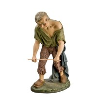 Wood breaking shepherd, to 8.5 in. figures