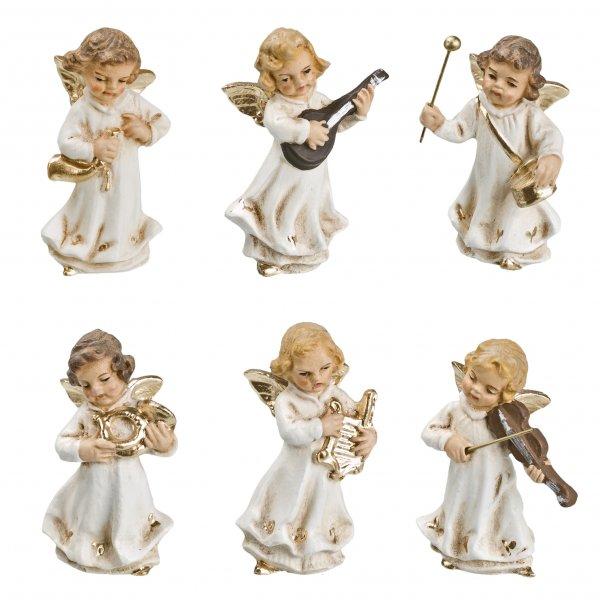 Engelkapelle, 6 Figuren, antikweiß, zu 10 - 11cm Figuren