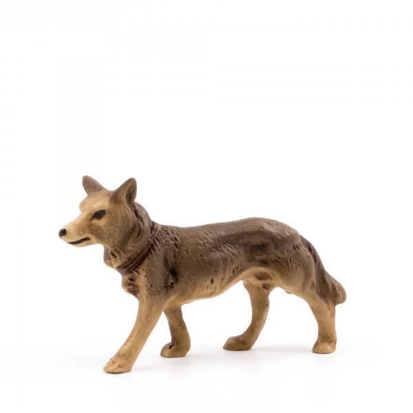 Schäferhund stehend, zu 9 - 10cm Figuren - Original MAROLIN® - Krippenfigur als Dekoration für Ihre Weihnachtskrippe oder Weihnachtspyramide - Made in Germany