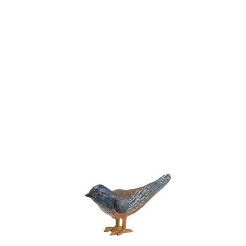 Vogel (klein) mit Beinen aus Zinn, zu 14cm Figuren - ein Artikel der Original MAROLIN® - Tiere als Dekoration für Ihre Weihnachtskrippe oder Weihnachtspyramide - Made in Germany