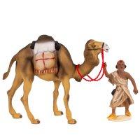 Kamel mit Gepäck und Treiber, zu 12cm Fig. (Kunststoff)