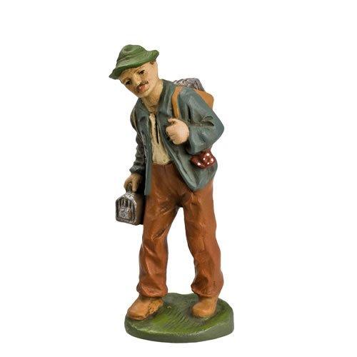 Vogelsteller, zu 10cm Figuren - Original MAROLIN® - Figur für Ihre Weihnachtspyramide oder Weihnachtskrippe  - Made in Germany