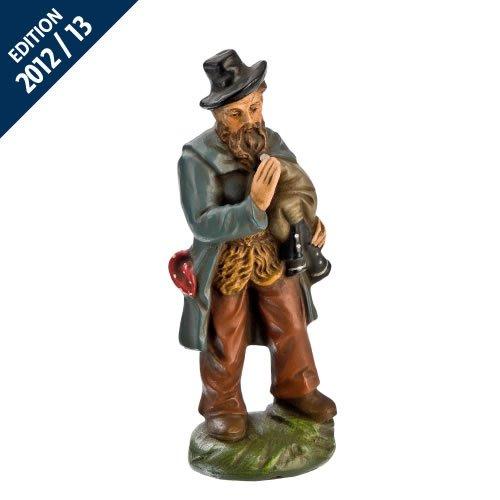 Hirte alt mit Dudelsack, zu 11cm Krippenfiguren - Original MAROLIN® - Krippenfigur für Ihre Weihnachtskrippe - Made in Germany
