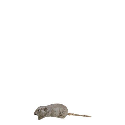 Maus springend, zu 14-17cm Figuren - ein Artikel der Original MAROLIN® - Tiere als Dekoration für Ihre Weihnachtskrippe oder Weihnachtspyramide - Made in Germany