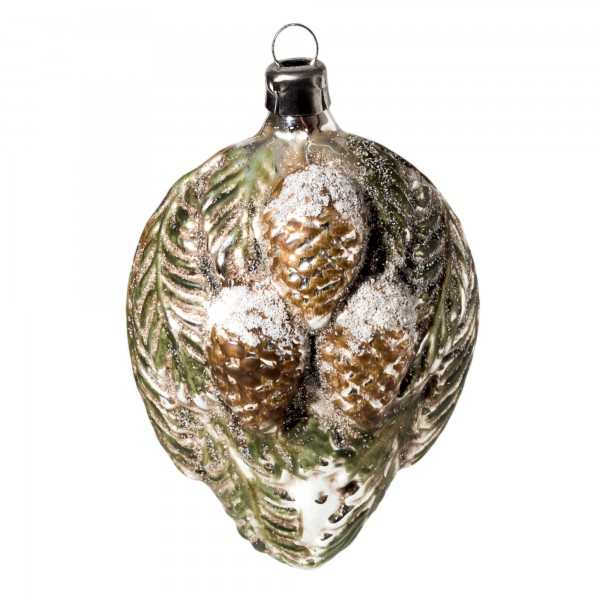 "Glass ornament ""Branches with Pine Cones"""