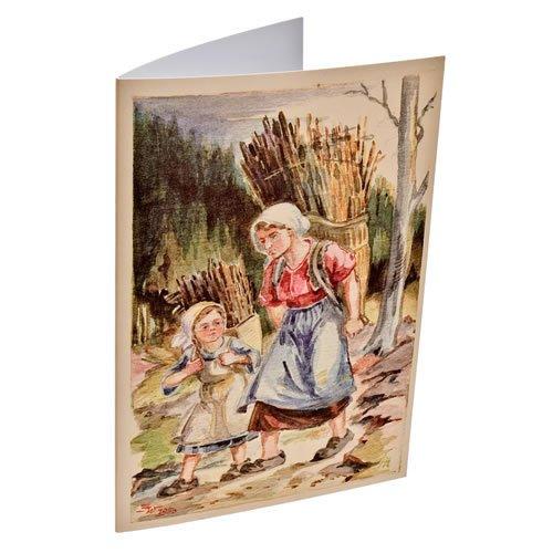 """Klappkarte """"Holzfrau"""" - ein Artikel aus der Serie  MAROLIN® - Karten - Made in Germany."""