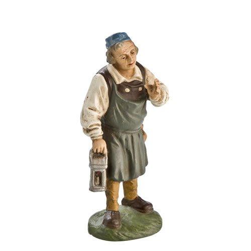 Wirt mit Laterne, zu 10cm Krippenfiguren - Original MAROLIN® - Krippenfigur für Ihre Weihnachtskrippe - Made in Germany