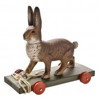 Pull-toy * Hare*, brown