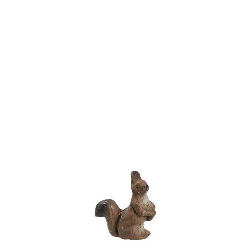 Eichhörnchen sitzend, zu 9 - 10cm Figuren - ein Artikel der Original MAROLIN® - Tiere als Dekoration für Ihre Weihnachtskrippe oder Weihnachtspyramide - Made in Germany