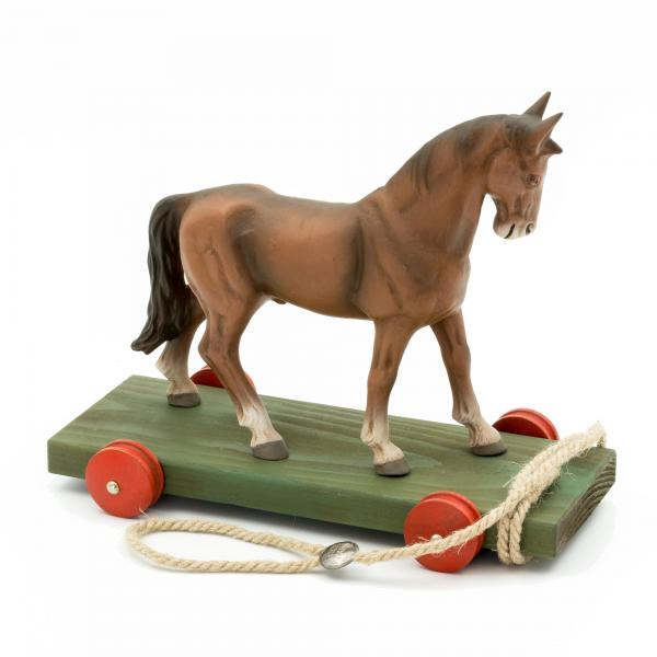 Pull toy Horse brown