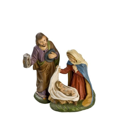 Heilige Familie, 3 Teile, zu 10cm Krippenfiguren - Original MAROLIN® - Heilige Familie für Ihre Weihnachtskrippe - Made in Germany