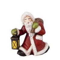 Kleiner Weihnachtsmann mit Laterne, rot