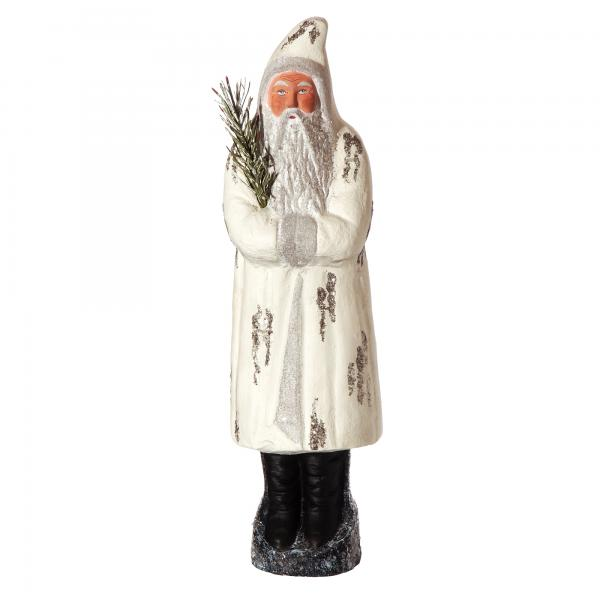Santa with Jelly Bag Cap, white, H=37cm