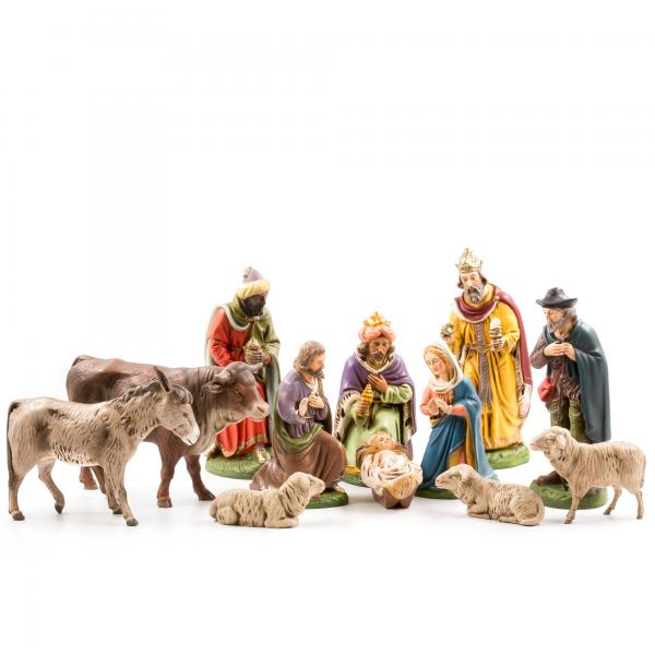 Nativity set, 12 pcs., to 6.75 in. figures