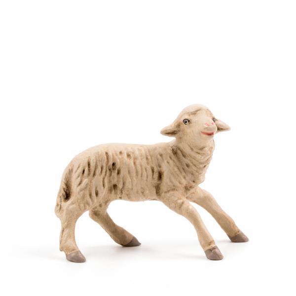 Erschrockenes Schaf, zu 9 - 10cm Krippenfiguren - Original MAROLIN® - Krippenfigur für Ihre Weihnachtskrippe - Made in Germany