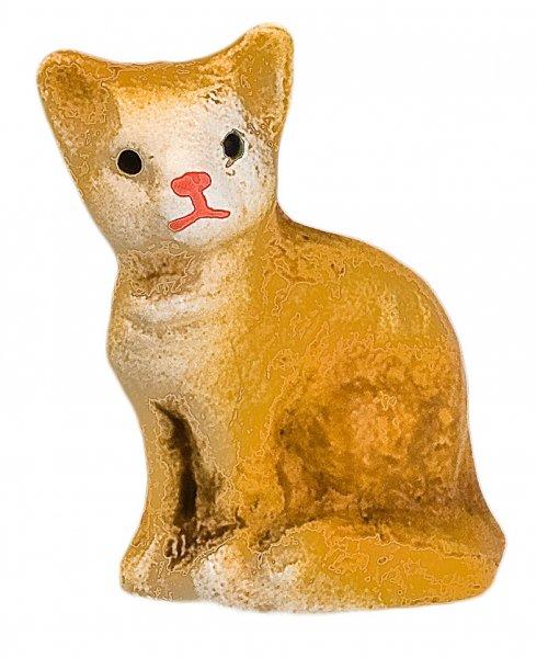 Katze sitzend, fuchs, zu 9cm Figuren