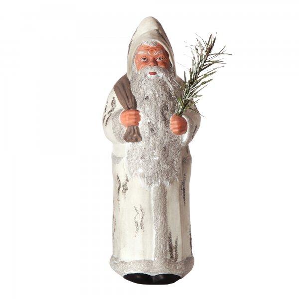 Weihnachtsmann mit Sack, weiß, H=26,5cm, befüllbar