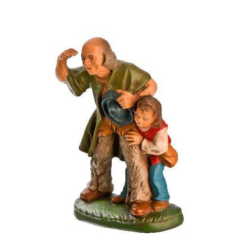 Hirte alt mit Hirtenjungen, zu 11cm Krippenfiguren - Original MAROLIN® - Krippenfigur für Ihre Weihnachtskrippe - Made in Germany