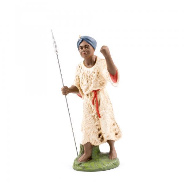 Kameltreiber mit Fellkleid und Turban (schwarzes Gesicht), zu 17cm Figuren