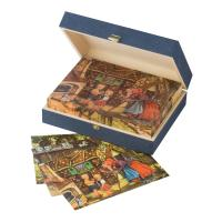 12 Fairytale cubes in wooden box with 6 different motives