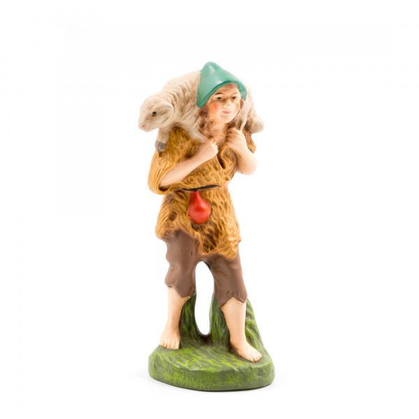 Hirte mit Fellkleid und Schaf, zu 11cm Figuren