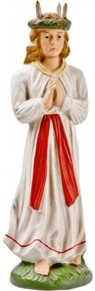 St Lucia mit Lichterkranz, zu 17cm Figuren - Original MAROLIN® - Figur für Ihre Weihnachtliche Dekoration - Made in Germany