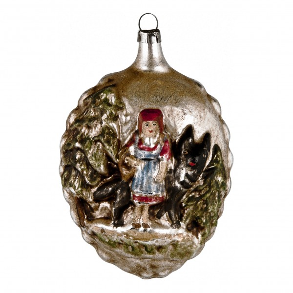 "Glass ornament ""Little Red Riding Hood"""