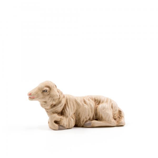 Schaf liegend, zu 10cm Krippenfiguren - Original MAROLIN® - Krippenfigur für Ihre Weihnachtskrippe - Made in Germany