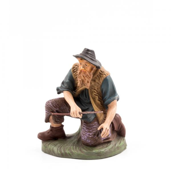 Hirte kniend mit Holz, zu 14cm Figuren