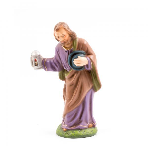 Josef stehend mit Laterne, zu 11cm Krippenfiguren - Original MAROLIN® - Krippenfigur für Ihre Weihnachtskrippe - Made in Germany
