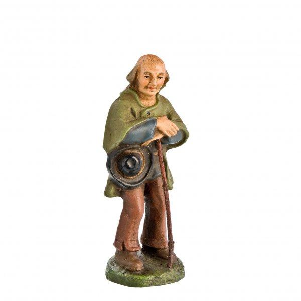 Hirte auf Stock gestützt, zu 11cm Krippenfiguren - Original MAROLIN® - Krippenfigur für Ihre Weihnachtskrippe - Made in Germany