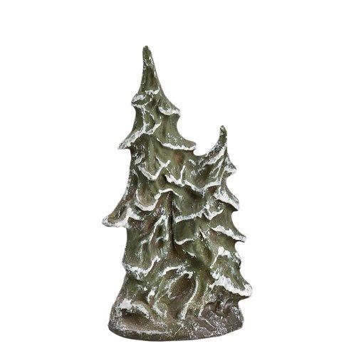 Tannenbusch doppelt (verschneit), H=10cm, für 9 - 11cm Figuren - Original MAROLIN® - Zubehör für Modellbau oder Ihre Weihnachtskrippe - Made in Germany