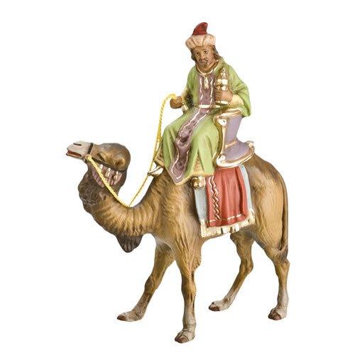 König braun (Melchior) zu Kamel, zu 10 - 11cm Krippenfiguren - Original MAROLIN® - Krippenfigur für Ihre Weihnachtskrippe - Made in Germany