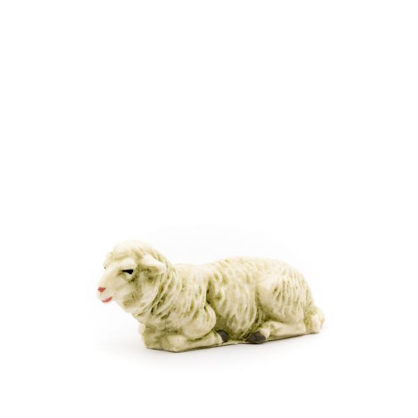 Lying sheep, to 4.75 in. figures (plastic material)