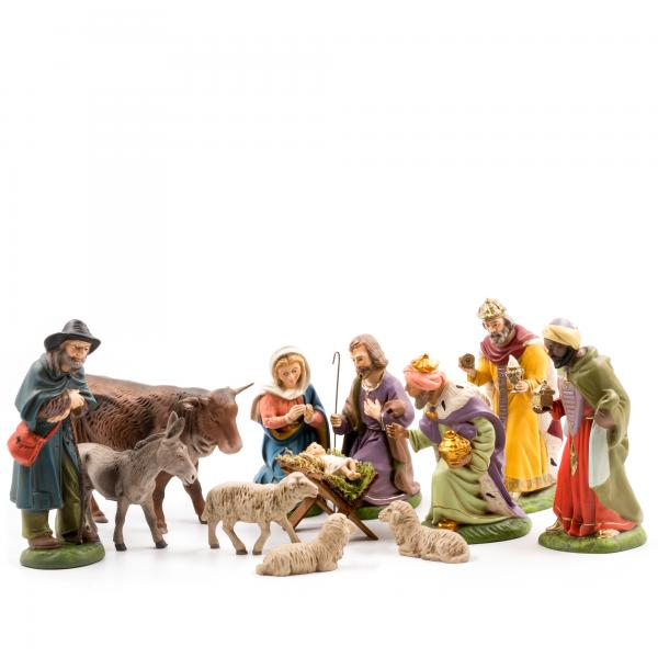 Nativity set, 12 pcs., to 4.75 in. figures