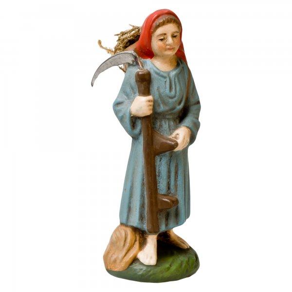 Frau mit Sense und Korb, zu 9cm Figuren