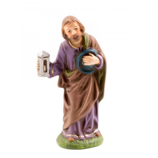 Josef stehend mit Laterne, zu 10cm Krippenfiguren - Original MAROLIN® - Krippenfigur für Ihre Weihnachtskrippe - Made in Germany