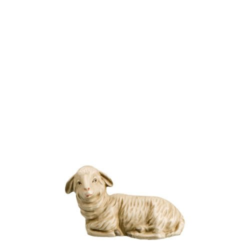 Schaf liegend, nach links blickend, zu 14cm Figuren passend