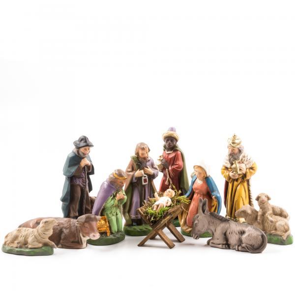 Krippenfiguren Set mit 11 Figuren, 9cm Krippenfiguren
