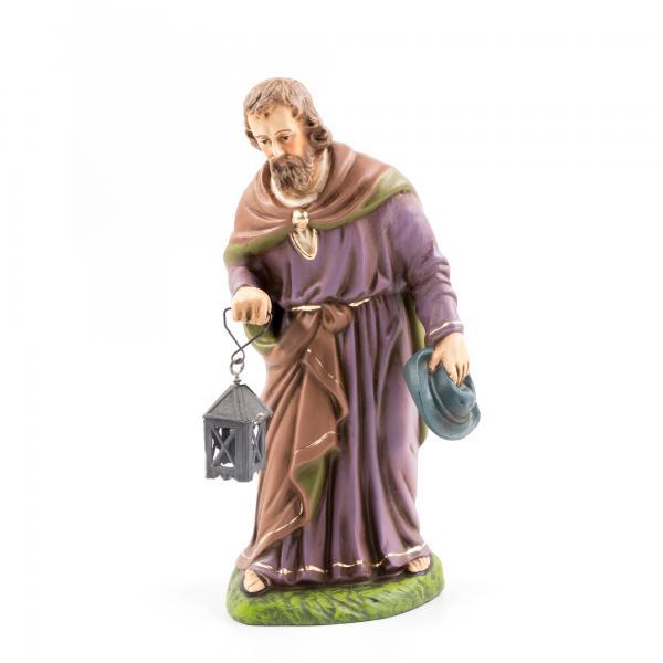 Josef stehend mit Zinn-Laterne, zu 17cm Figuren