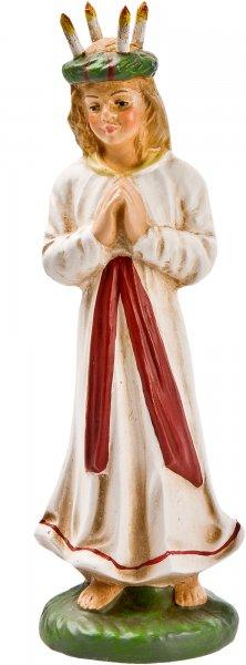 St Lucia mit Lichterkranz, zu 11cm Figuren - Original MAROLIN® - Figur für Ihre Weihnachtliche Dekoration - Made in Germany