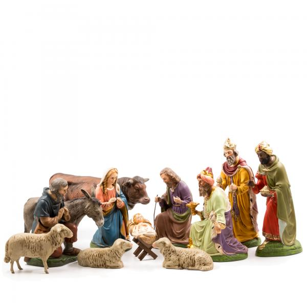 Krippenfiguren Marolin, 12 Figuren, zu 21cm Größe