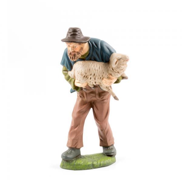 Hirte mit Schaf im Arm, zu 17cm Figuren
